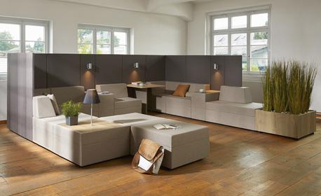 Loungebereiche mit Wohlfühlambiente