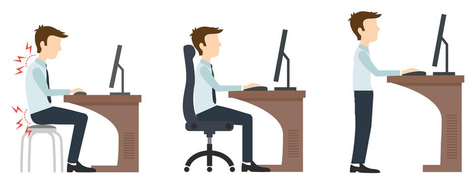 gesund arbeiten mit h henverstellbaren schreibtischen ergonomie am arbeitsplatz pape rohde. Black Bedroom Furniture Sets. Home Design Ideas