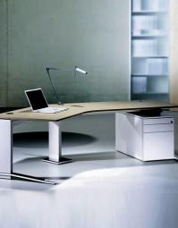 Leuwico iMove-C Design Steh-Sitz-Winkeltisch