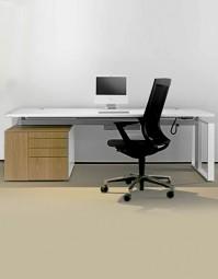 Leuwico iMove-F Dekor Steh-Sitz-Schreibtisch