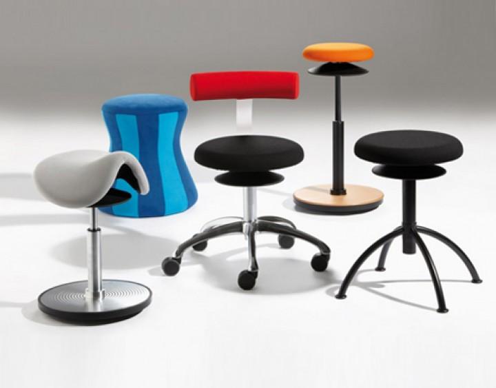 ergonomischer hocker l ffler ergo m mit ergotop. Black Bedroom Furniture Sets. Home Design Ideas