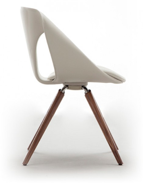 Tonon Up Chair 907 Wood Design Stuhl Mit Bezug Leder Pape Rohde