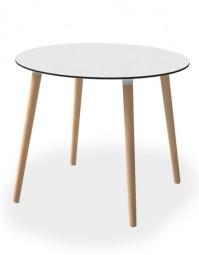 SMV BLANDA Tisch mit Massivholz Gestell