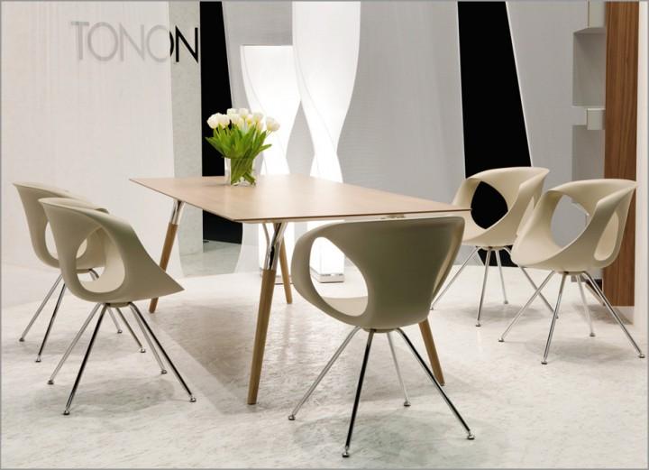Tonon up chair 907 steel design stuhl mit stahl gestell for Design stuhl filz