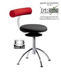 Löffler AOGO V - Sitzhocker mit Rückenlehne