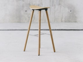 ENEA Coma Wood – Barhocker mit Sitz und Gestell Eiche
