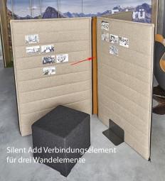 P + R Silent Add – Wandverbinder für Trennwand