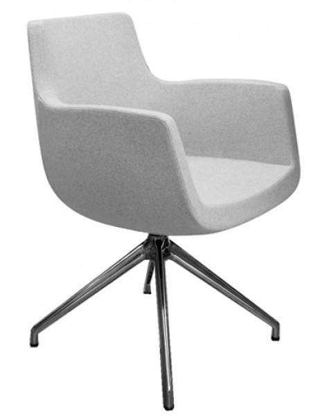 Design Schreibtischstuhl drehbarer design stuhl febrü soul modell soul steel 205066 pape