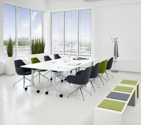 P+R Certo – rollbarer Tisch mit abklappbarer Platte