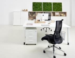 QUADRO Schreibtisch bis B 200 cm, T 80 und 100 cm