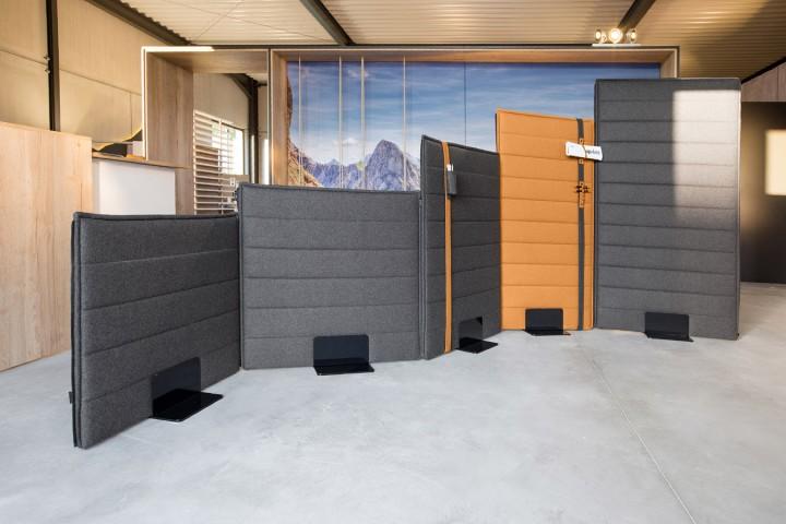 febr silent akustik trennwand f r sicht und schallschutz im b ro pape rohde b roeinrichtungen. Black Bedroom Furniture Sets. Home Design Ideas