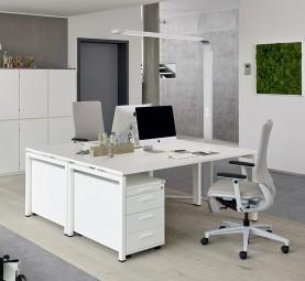 Trento Schreibtisch bis B 200 cm, T 80 und 100 cm