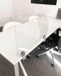 Plexiglas Trennwand für Schreibtisch | Virenschutz | viele Größen