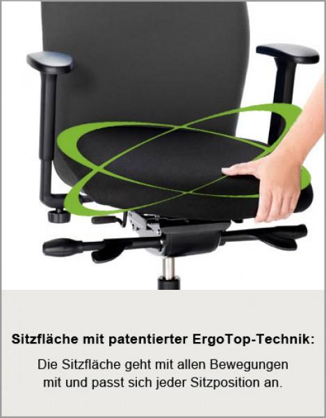 Ergonomischer bürostuhl bandscheibenvorfall  Ergonomischer Bürostuhl Löffler LEZGO 72 mit ErgoTop Technik ...