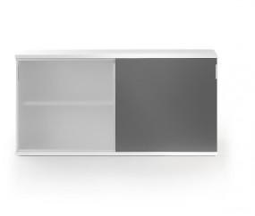 Leuwico iSCUBE Sideboard | B 160 cm mit Schiebetür aus Glas