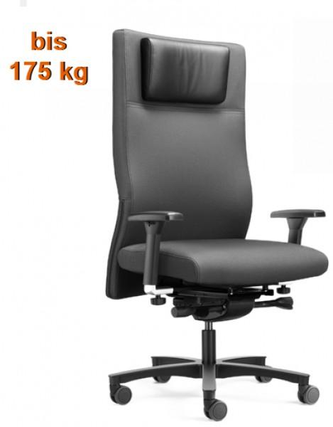 Xl b rostuhl bis 175 kg l ffler 6h 7h mit komfortpolsterung pape rohde b roeinrichtungen - Burostuhl bis 200 kg ...
