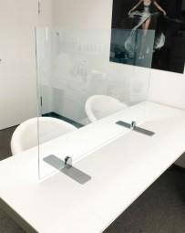 Plexiglas Trennwand für Konferenztische | Virenschutz, viele Größen