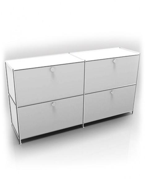 Viasit system 4 sideboard mit 4 schubladen pape rohde for Sideboard ohne schubladen