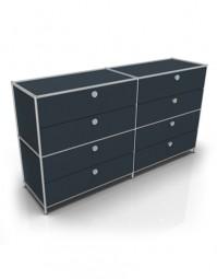 System 4 by Viasit – Sideboard mit 8 Schubladen