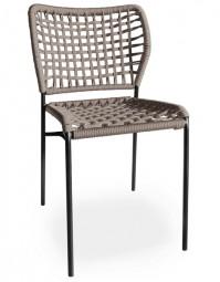 TONON CORDA 162.01 – Outdoor Stuhl mit Netz Flechtmuster / Geeignet für Außen- und Innenbereiche