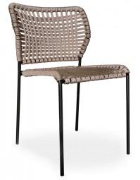 TONON CORDA 162.02 – Outdoor Stuhl mit Knoten Flechtmuster / Geeignet für Außen- und Innenbereiche