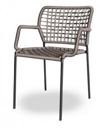 TONON CORDA 162.11 – Outdoor Stuhl mit Netz Flechtmuster / Geeignet für Außen- und Innenbereiche