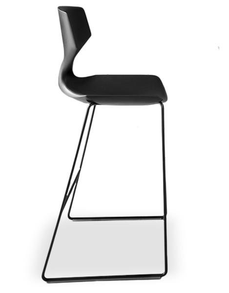 Barhocker Design tonon quo 910 design barhocker mit rückenlehne in 2 sitzhöhen