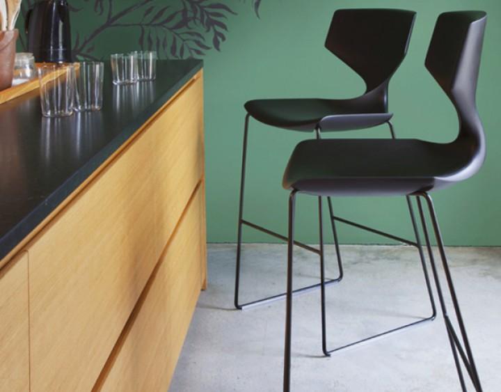 Design Barhocker Mit Lehne | Tonon Quo 910 Design Barhocker Mit Ruckenlehne In 2 Sitzhohen