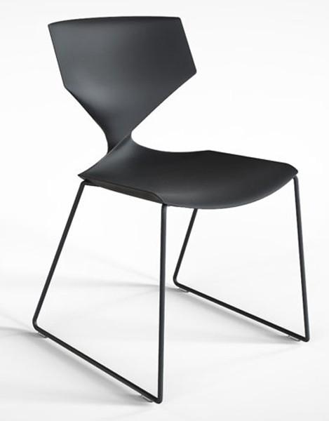 Tonon quo steel design stuhl mit kufen gestell for Design stuhl mit kufen