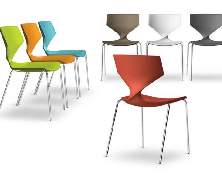 Tonon quo steel design stuhl mit stahl gestell for Design stuhl filz