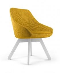 Viasit Calyx Design Stuhl mit Holzgestell aus Eiche