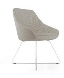 Viasit Calyx Design Stuhl mit Kufengestell aus Draht