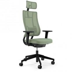 Viasit Newback – Ergonomischer Bürostuhl mit Kopfstütze