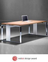 Leuwico iMove-F Echtholz Steh-Sitz Schreibtisch