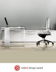 Leuwico iMove-F Design Steh-Sitz-Schreibtisch