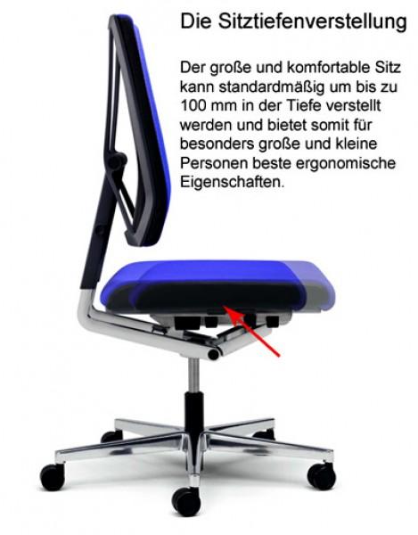 Bürosessel netz  Viasit Scope 300.5000 - Bürostuhl Testsieger mit Netzrücken   Pape ...